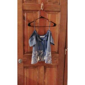 NWT Abercrombie & Fitch Embroidered Top